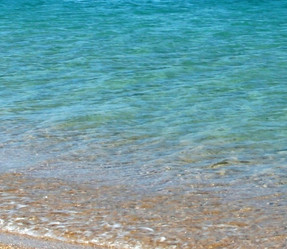 Typical local clear turquoise water