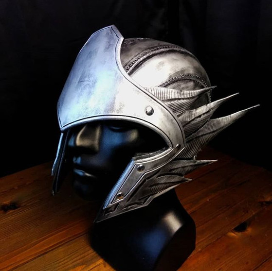 Winged Asgardian helm__#stock #leather #