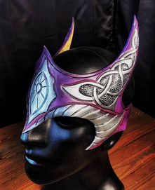Purple enchantress crown__#leather #leat