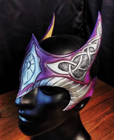 Purple enchantress crown__#leather #leat