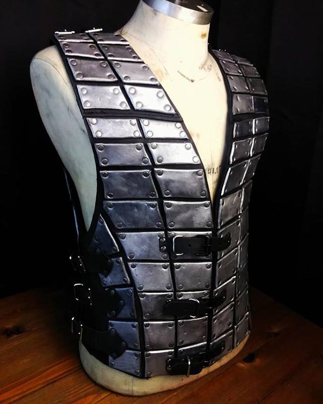 Brigandine chest piece. Headed to faire.
