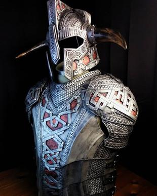 Misty mountain leather dwarven armor.__#