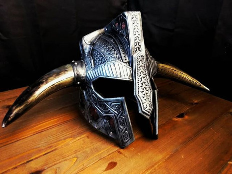 Final pics of the Dwarven helm before it