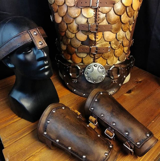 Barbarian kit finished__#leather #leath