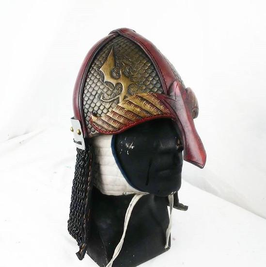 Helmet with a chain drape..jpg