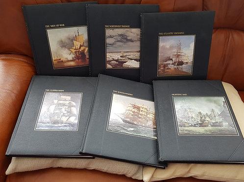 "6 x Vintage ""The Seafarers"" H/B Books"