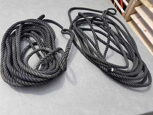 FREE - 2 x Black Mooring Ropes