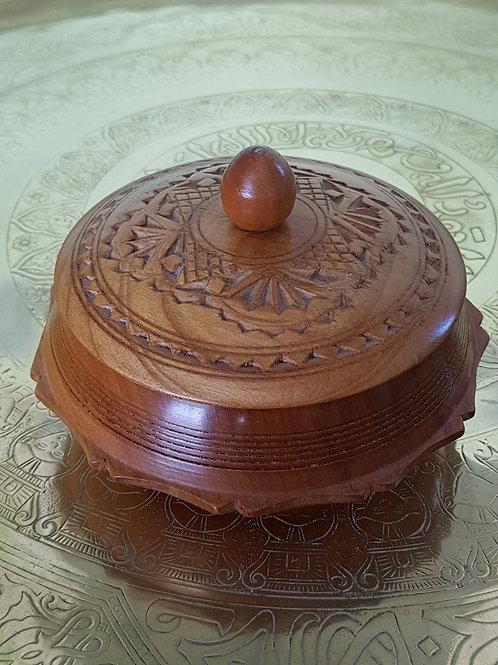 Antique Hexagonal Wooden Box