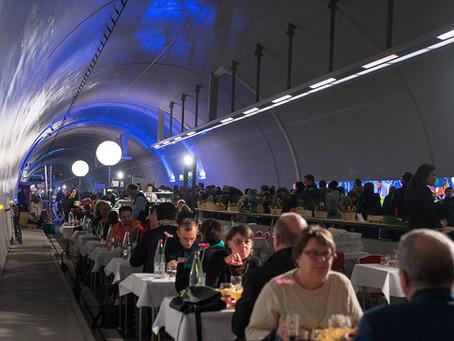 Le restaurant l'Etage dans le tunnel de la Croix Rousse le temps d'une soirée...