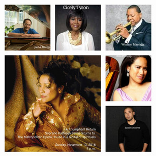 Special Guests for Kathleen Battle's return to the MET Opera