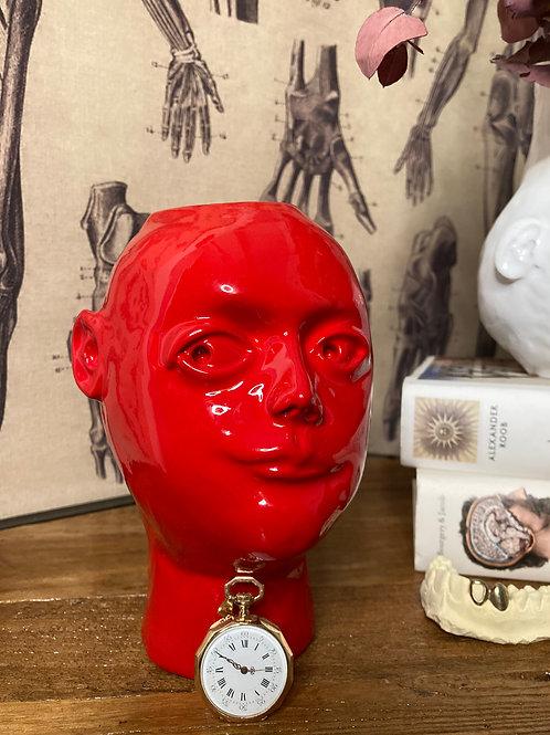 Vase Visage rouge