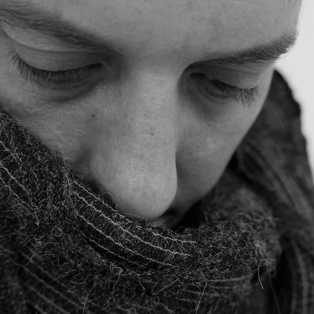Snood Gray knit royal