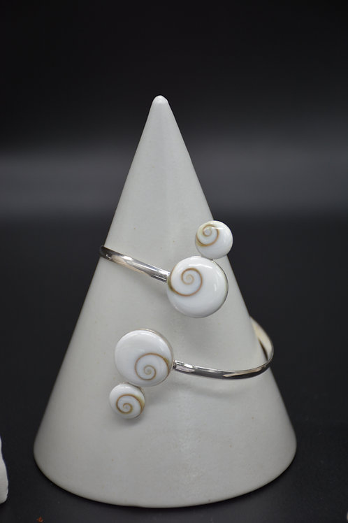 Bracelet manchette Oeil de Sainte-Lucie