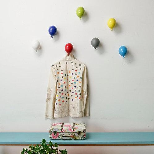 Mini Ballon patère JAUNE