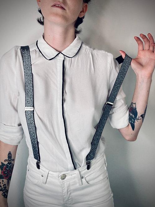 Bretelles argentées
