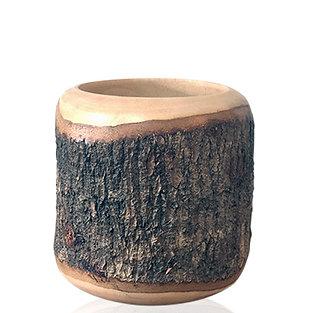 """Cache pot en bois de manguier """"Arum M"""""""