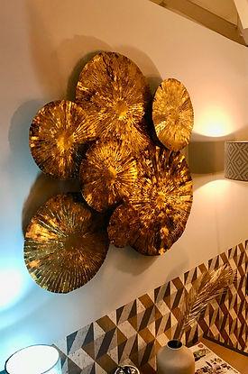 Décoration murale métal superposition ro