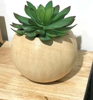 Cache pot en bois naturel