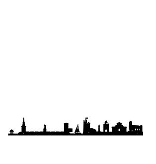 """Silhouette """"Skyline"""" La Rochelle"""