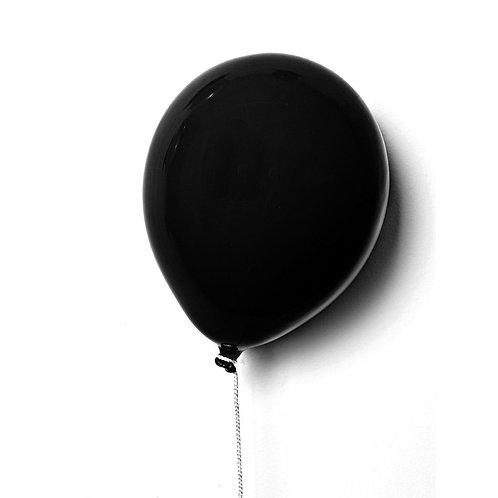 Ballon décoratif noir