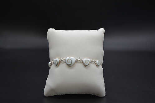 Bracelet Coeurs Oeil de Sainte-Lucie
