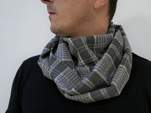 Snood Gray Checked