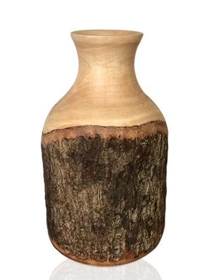 """Vase en bois de manguier naturel """"Iris L"""""""