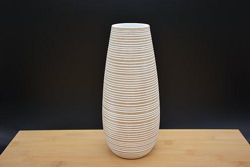 """Vase en bois de manguier """"Trio strié"""""""