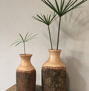 """Vase en bois de manguier naturel """"Iris M"""""""
