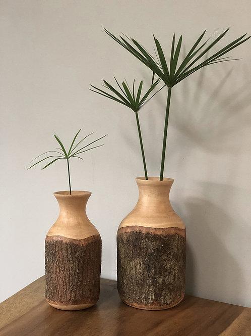 Vase en bois de manguier naturel Iris