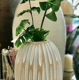"Vase en bois de manguier ""Pineapple"""