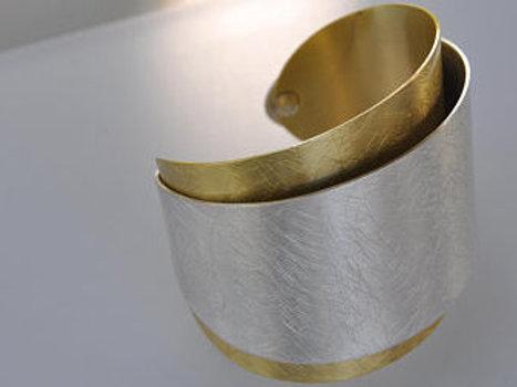 Bracelet manchette Bi color