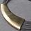 """Thumbnail: Collier """"Ethnique"""" doré cordes cuir"""