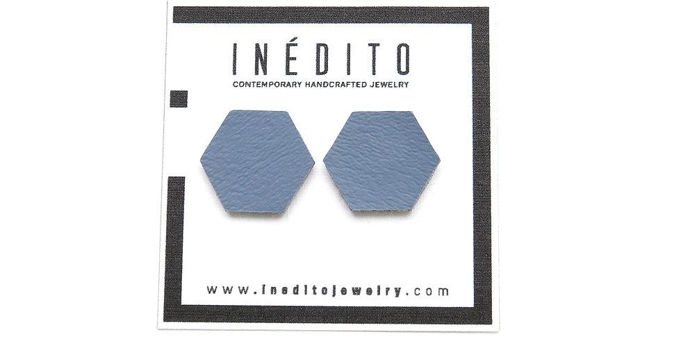 Hexagon studs earrings