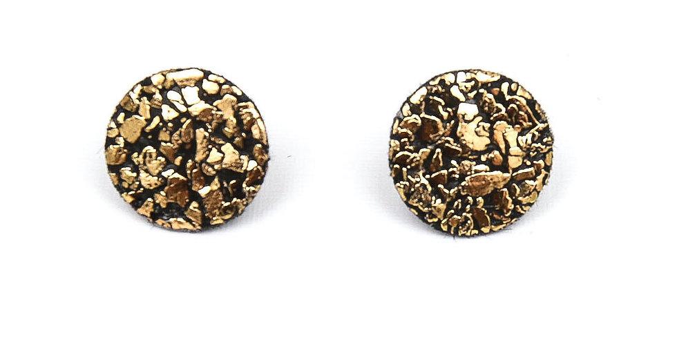 Gold geometric studs earrings