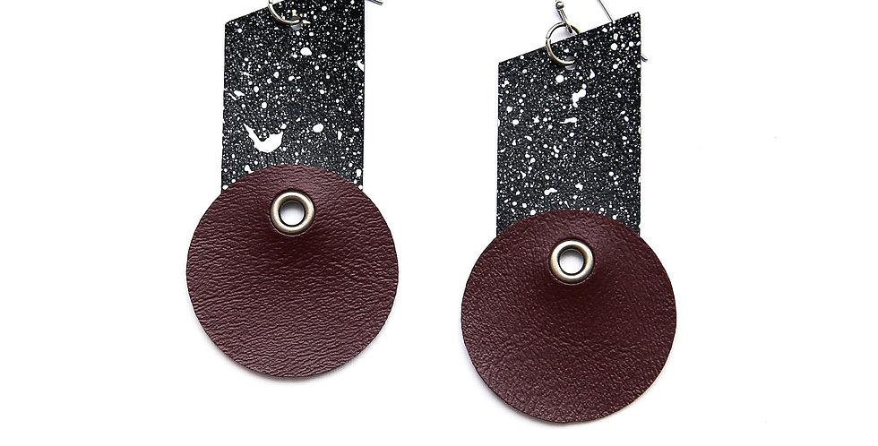 Pollock splatters earrings