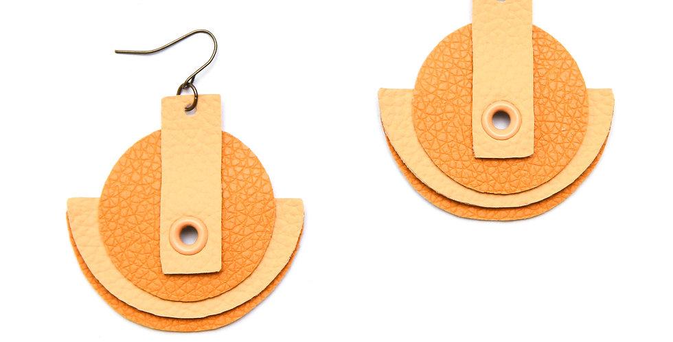 Monochromatic earrings - Yellow