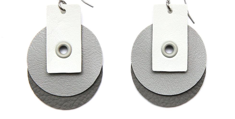 Double circles earrings