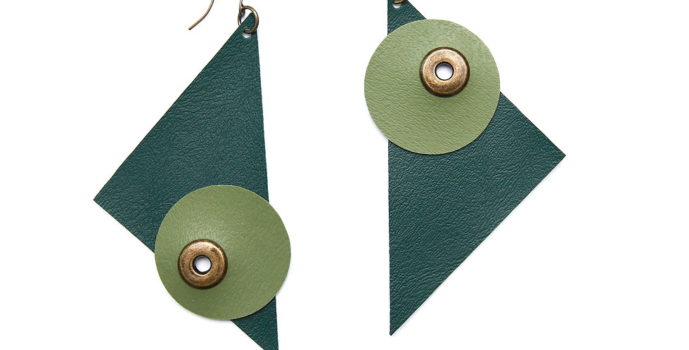 Monochromatic triangle statement earrings