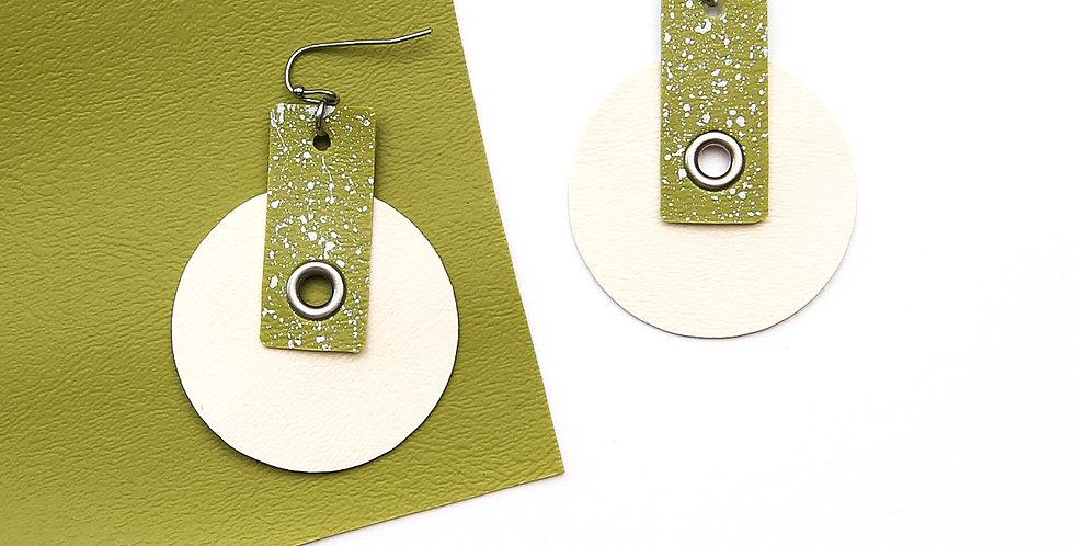 Circles splatter earrings