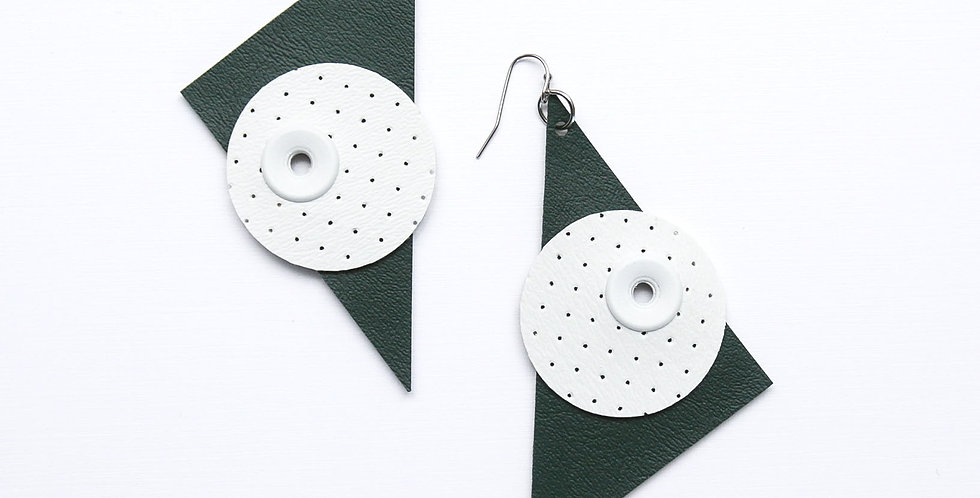 Triangle and Circle statement earrings