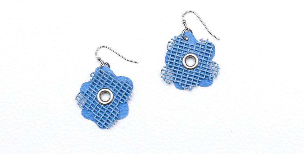 Blue flowers earrings