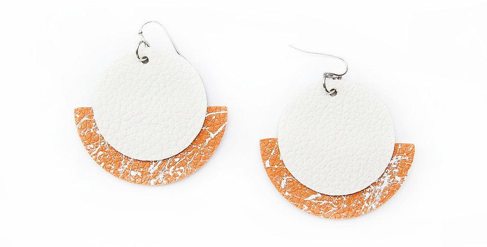 Circle and semicircle earrings