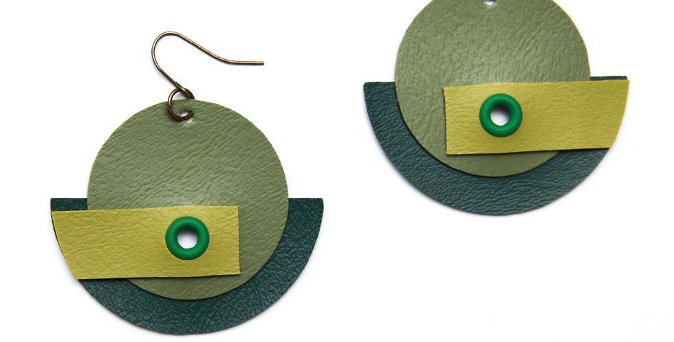 copy of Monochromatic earrings - Green