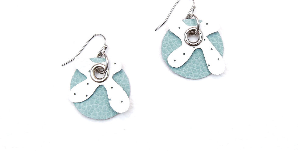 White on Turquoise earrings