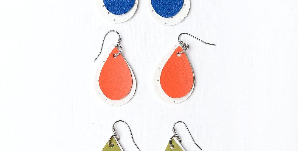 Doble drops waterproof earrings
