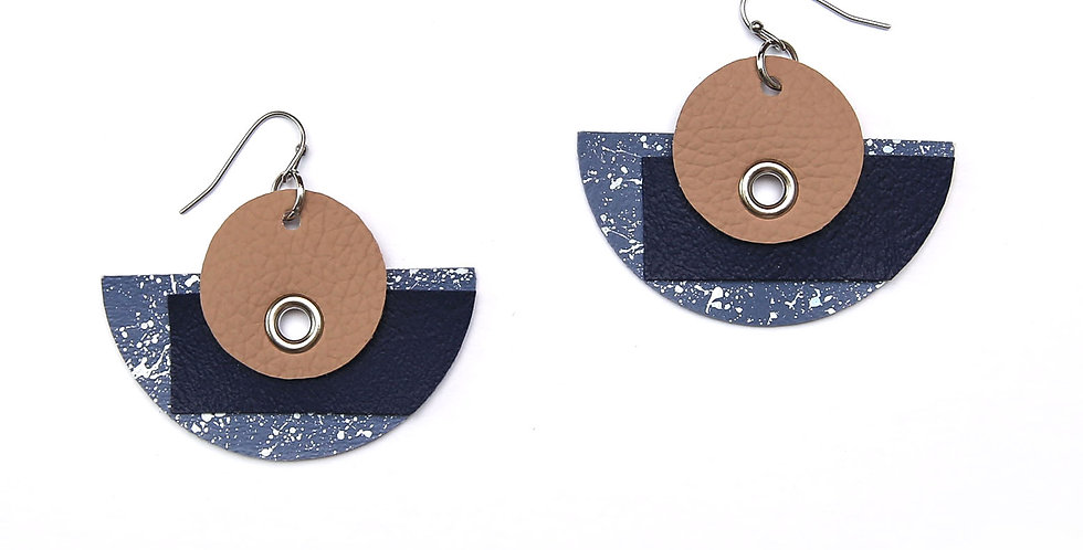 Semicircle splatter earrings