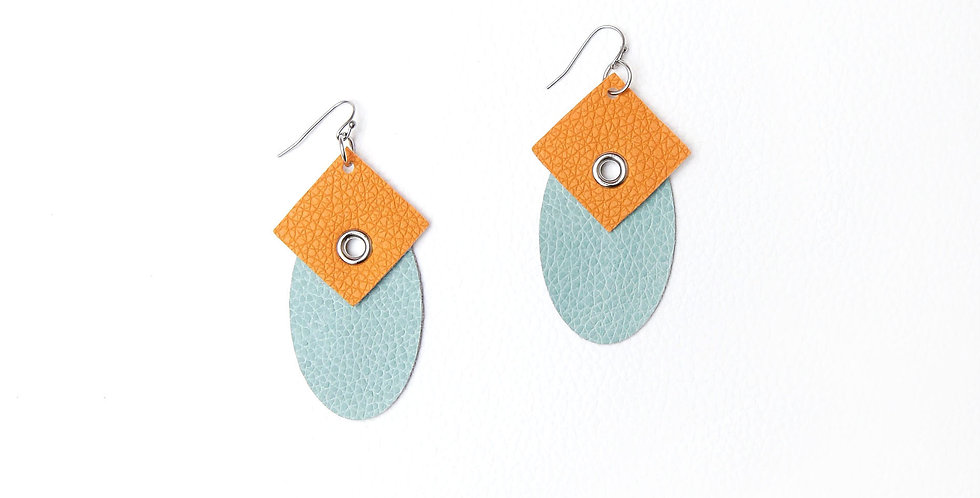 Mustard & Turquoise earrings