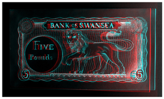 Original 5 Pound Note 3D Inverted