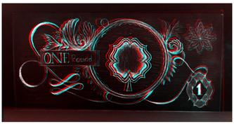 Original 1 Pound Note 3D Inverted